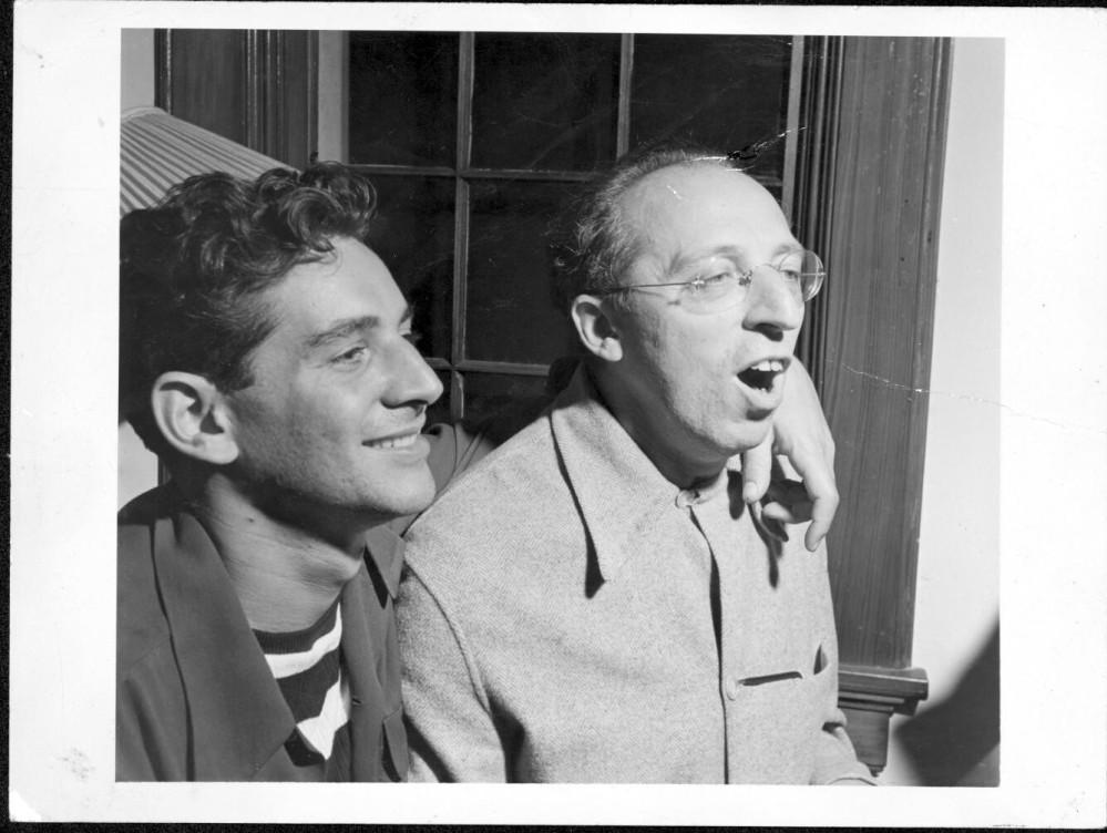 Bernstein and Copland, 1945